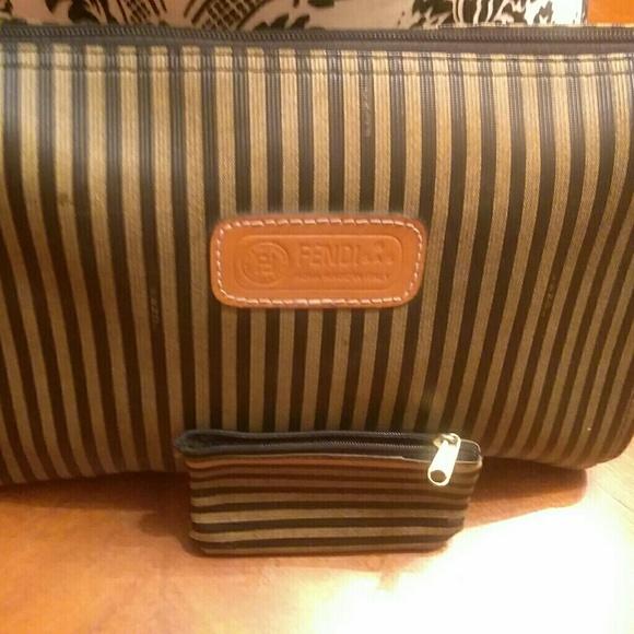 2f49eb3a79 FENDI Handbags - FENDI VINTAGE WRISTLET COSMETICS BAG